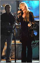 Stevie sings at rehersal