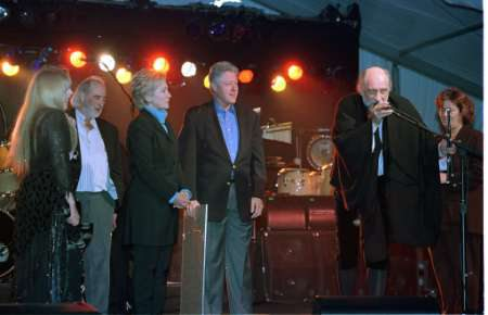 Photo of the President with Fleetwood Mac